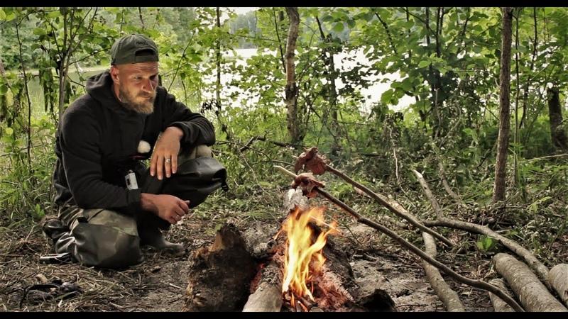 Рыбалка С Ночёвкой на Яузе Мясо на Рожне Настоящий Мужской Отдых Спиннинг Фидер