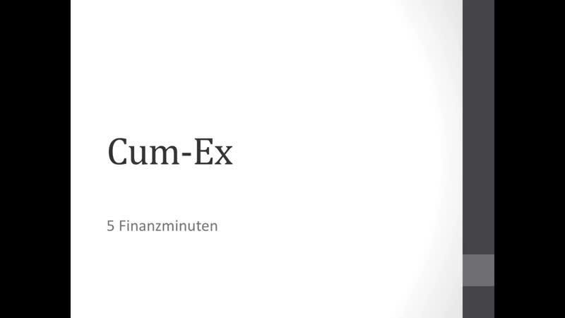 CUM EX / DIVIDENDENSTRIPPING einfach erklärt - easyfinance