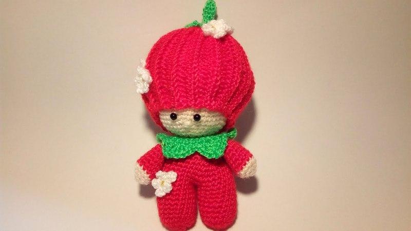 Bambola Fragolina Amigurumi Tutorial Muñeca Fresa Crochet -Doll Strawberry Crochet