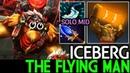 Iceberg [Earthshaker] The Flying Man Solo Mid 22 Kills 7.19 Dota 2