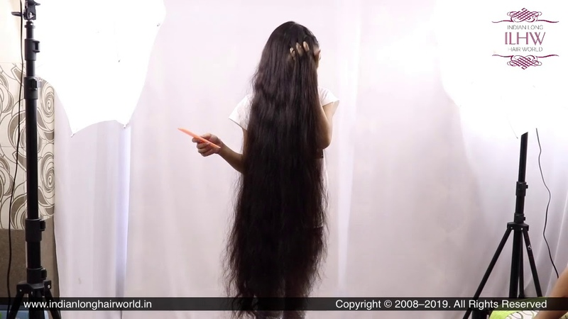 ILHW First Teen Rapunzel Pari's Hair Brushing Flaunting With Her Knee Length Silky Mane