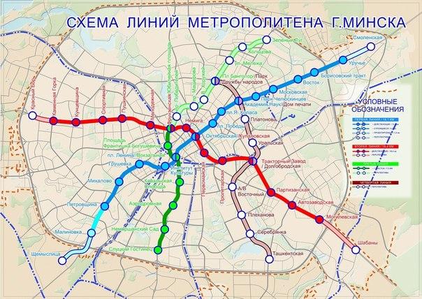 Перспективная схема линий