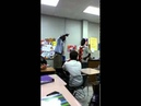 OG Puts A Young Blood Crip In Check After Trying To Fight In The Classroom