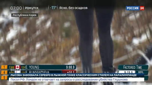 Новости на Россия 24 Российские лыжницы Румянцева и Лысова завоевали два серебра Паралимпиады 2018