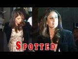 Kareena Kapoor spotted wearing saifs jacket at a party