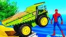 Мультики про Цветные Машины и Большие Грузовики для Детей Пожарная и Полицейская Машинки Для Малышей