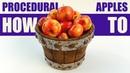 Blender tutorial: Procedural apples