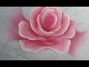 Como pintar folhas, rosas e hortênsias. Pintura em tecido.