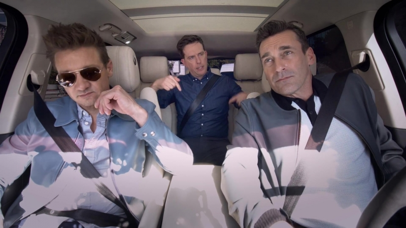 The Apple TV App — Carpool Karaoke — Stars of 'Tag' — Jon Hamm, Ed Helms Jeremy Renner