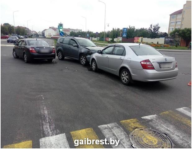 В Пинске в ДТП пострадала женщина-пассажир