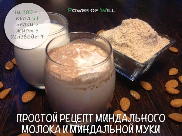 Миндального молока рецепт
