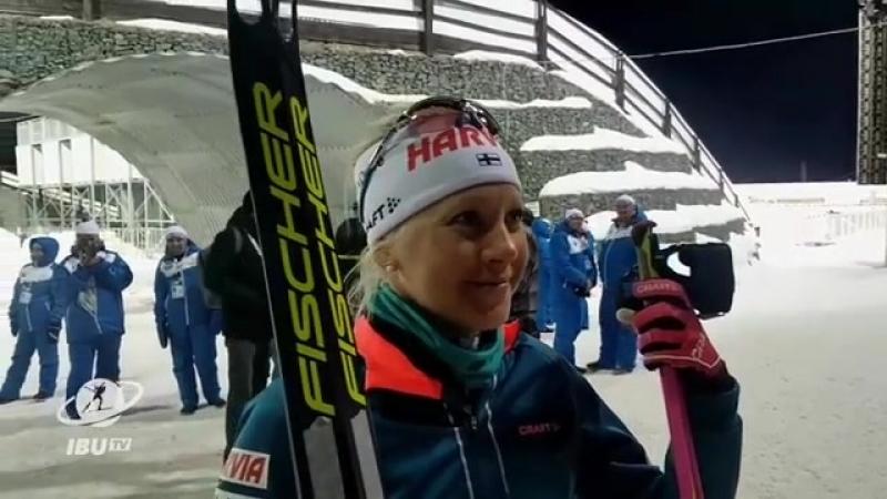 IBU: Иностранные спортсмены читают спасибо на русском языке