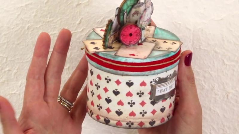 Набор бумаги для скрапбукинга Алиса в стране чудес от STAMPERIA