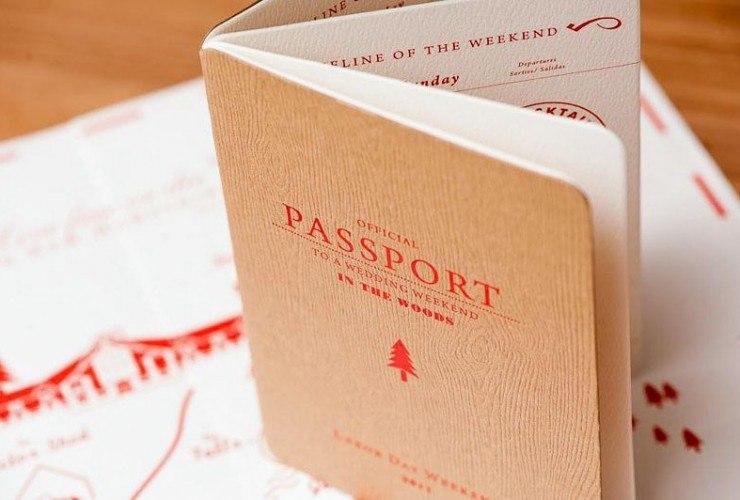 приглашение на свадьбу-путешествие в виде паспорта