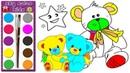 Wie man niedlichen Teddybären zeichnet 🐻 Malbuch für kinder | Sky color kids