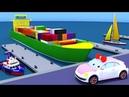 Машинка Люся и водный транспорт, изучаем разные корабли. Мультик для малышей.