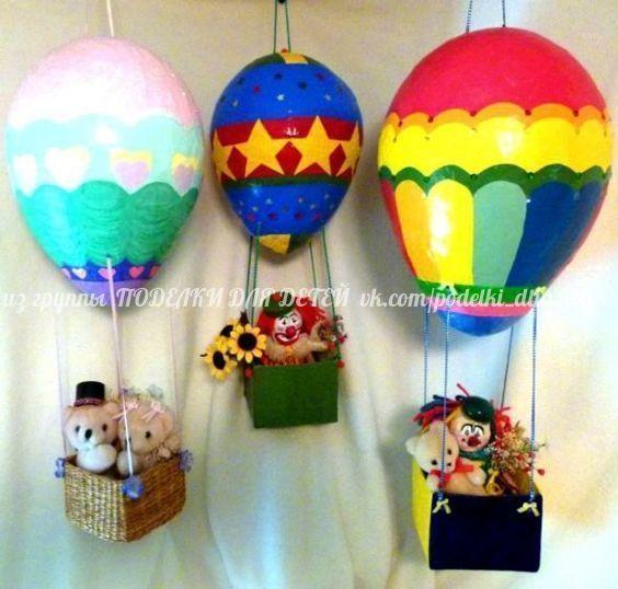 пошаговая инструкция воздушный шар из папье маше
