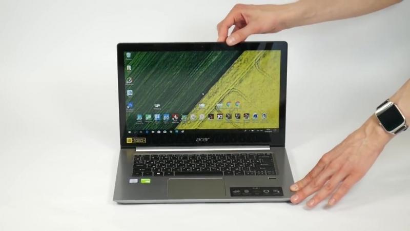 Видео обзор ноутбука Acer Swift SF314-52G-89YH - теперь мы умеем измерять уровень шума!