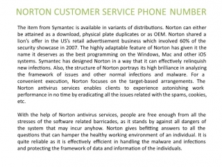 Norton Tech Support Phone Number +1-888-316-4403