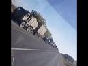 Подтягивается военная колонна на границу Чеченской республики/Ингушетия.