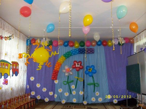 Оформление воздушными шарами в