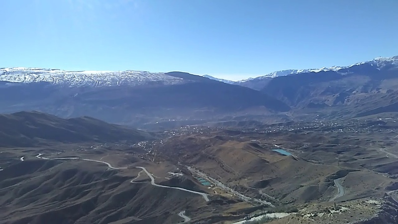 Село Ботлих с дороги в Грозный, ноябрь 2018 | туризм в Дагестане