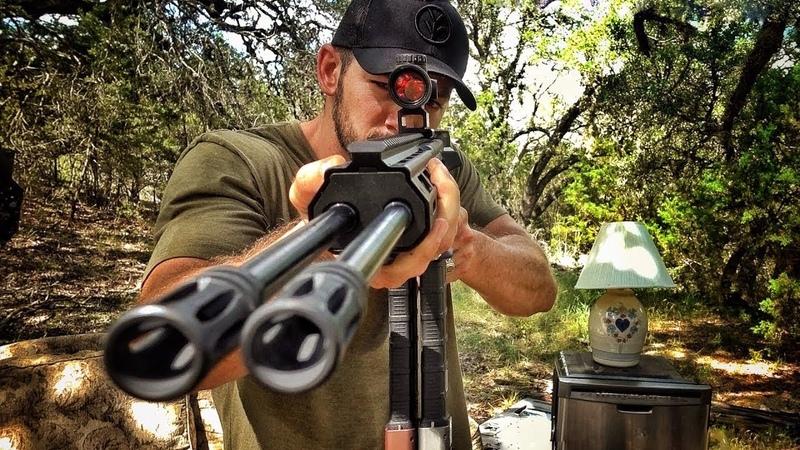 Двухствольная AR 15 против мебели Разрушительное ранчо Перевод Zёбры