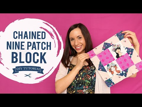 How to Make a Chained Nine Patch Block Tutorial