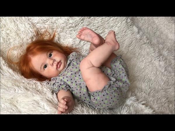Обзор на новую куклу реборн Морковку Переодевание реборна Crystal by Donna RuBert