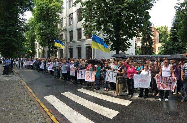 В Харькове людям не платят зарплату (ФОТО, ВИДЕО)