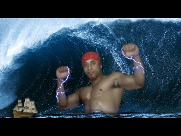 Рикардо Милос спокойно купался, но его прервали пираты, что не помешало ему поднять волну флекса