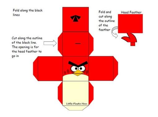 Angry Birds Шаблоны для печати