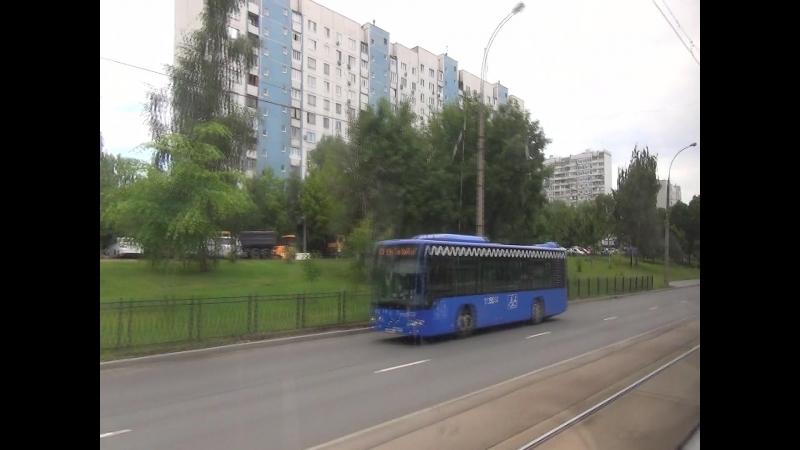 Поездка на трамвае МТТЧ борт 304613463 по маршруту 21 от станции Щукинская до остановки Таллинская улица