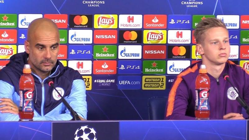 Pep Guardiola Oleksandr Zinchenko Pre-Match Press Conference - Shakhtar Donetsk v Manchester City