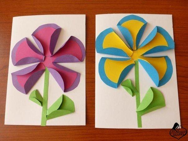 Поделки из цветной бумаги с фото