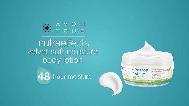 Avon True NutraEffects velvet soft moisture