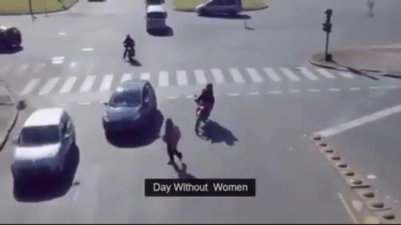 Один день без женщин на дороге