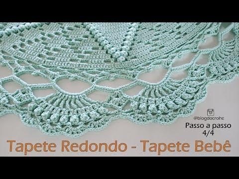 Tapete redondo - Tapete Bebê - Parte 4/4