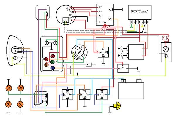 электрическая схема иж юпитер 3 к