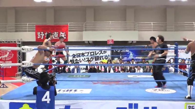 Atsushi Aoki, Hikaru Sato, Ultimo Dragon, Yusuke Okada vs. Takao Omori, Koji Iwamoto, Atsushi Maruyama, Josh Bodom (AJPW)