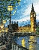 """Схема вышивки  """"Вечерний Лондон """" ."""