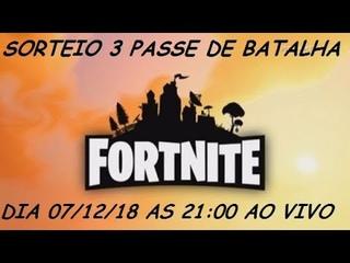 SORTEIO DE 3 PASSE DE BATALHA (Fortnite WTF Momentos Fail)