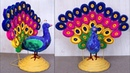 WoW ! What an Amazing DIY Peacock Showpiece Handmade Things
