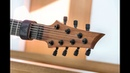Hufschmid 7 string 'Tantalum' model close-up !