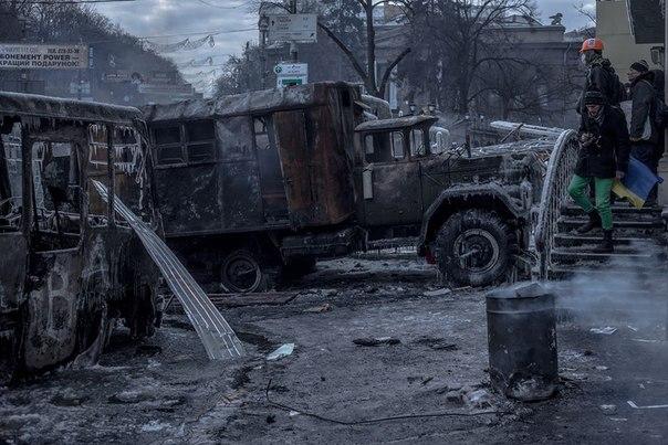 Спалена техніка в Києві Євромайдан
