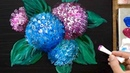 Easy Hydrangea Acrylic Painting Technique You Must Try