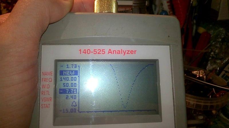 Baofeng UV-5R тест КСВ AEA Technology 140-525 Анализатортором ,стандартной заводской антенны