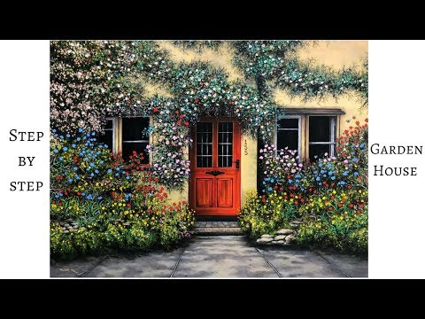 ColorbyFeliks: Step by Step Garden House Acrylic Painting