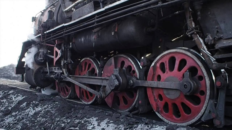 China Sandaolin Steam 122015 中国三道嶺の建設型蒸機