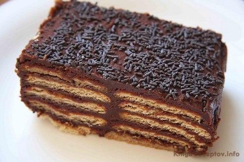 Рецепт торта из печенья фото и видио